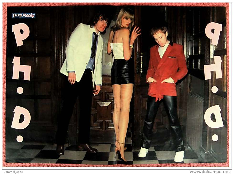 Kleines Musik-Poster  -  Gruppe P H. D.   -  Rückseite :  Paul Breitner  -  Von Pop Rocky Ca. 1982 - Plakate & Poster