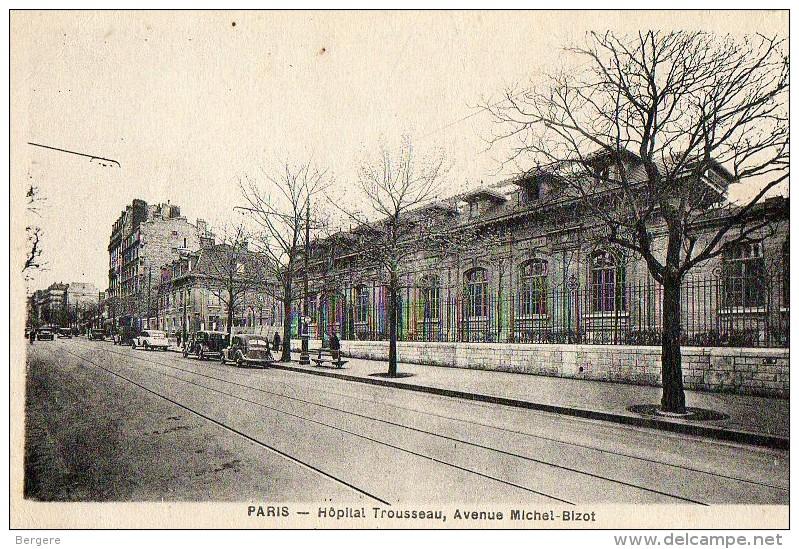 CPA PARIS. Hopital Trousseau, Avenue Michel Bizot. - Santé, Hôpitaux