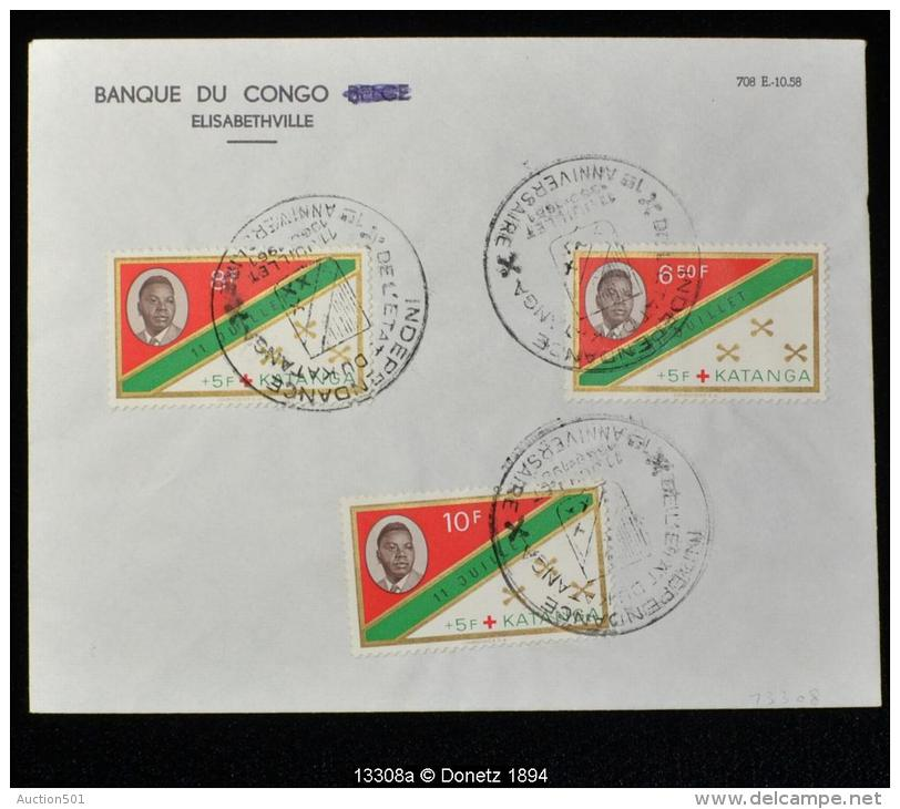 13308 Phil. Elisabethville, Ann. Indépendance  11/07/1961 - Katanga