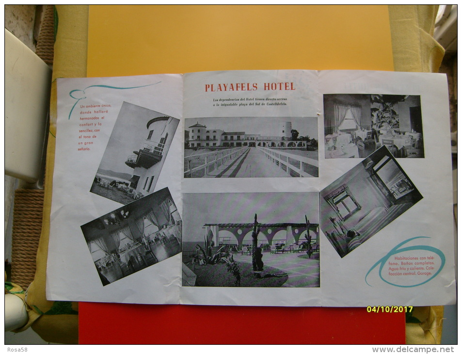 Depliant TuristicoPlayafels Hotel Castelldefels Barcelona ESPANA Spagna - Maps