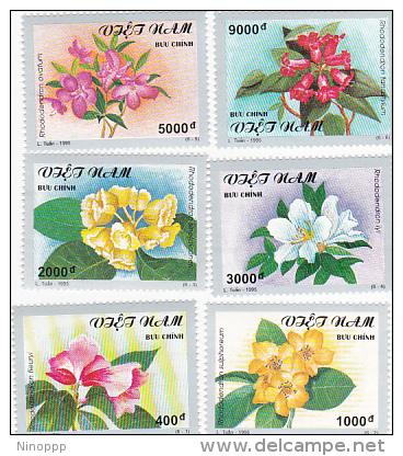 Vietnam 1995 Flowers Set MNH - Vietnam