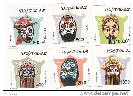 Vietnam 1999 Masks Imperforated Set MNH - Vietnam