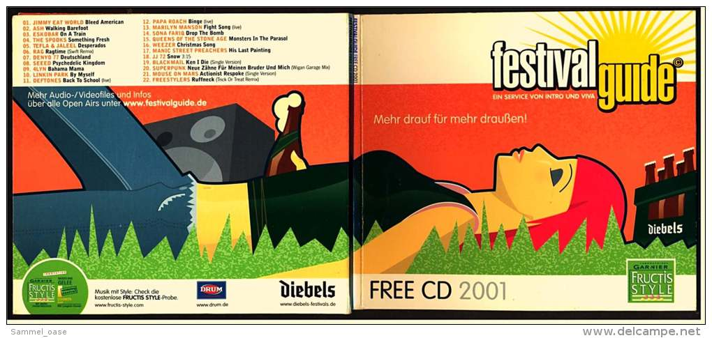 2 X Werbe-CD -  Festival Guide Von 2001  -  22 Tracks + Infos  -  Neuwertig - Musik & Instrumente