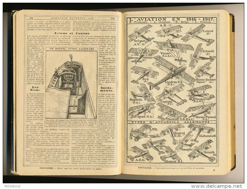 Militaria - ALMANACH HACHETTE 1918 - Petite Encyclopedie Populaire De La Vie Pratique - Voir - Bücher