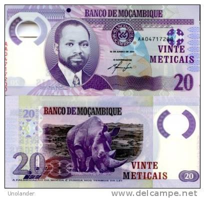 MOZAMBIQUE       20 Meticais       P-149       16.6.2011       UNC - Mozambique