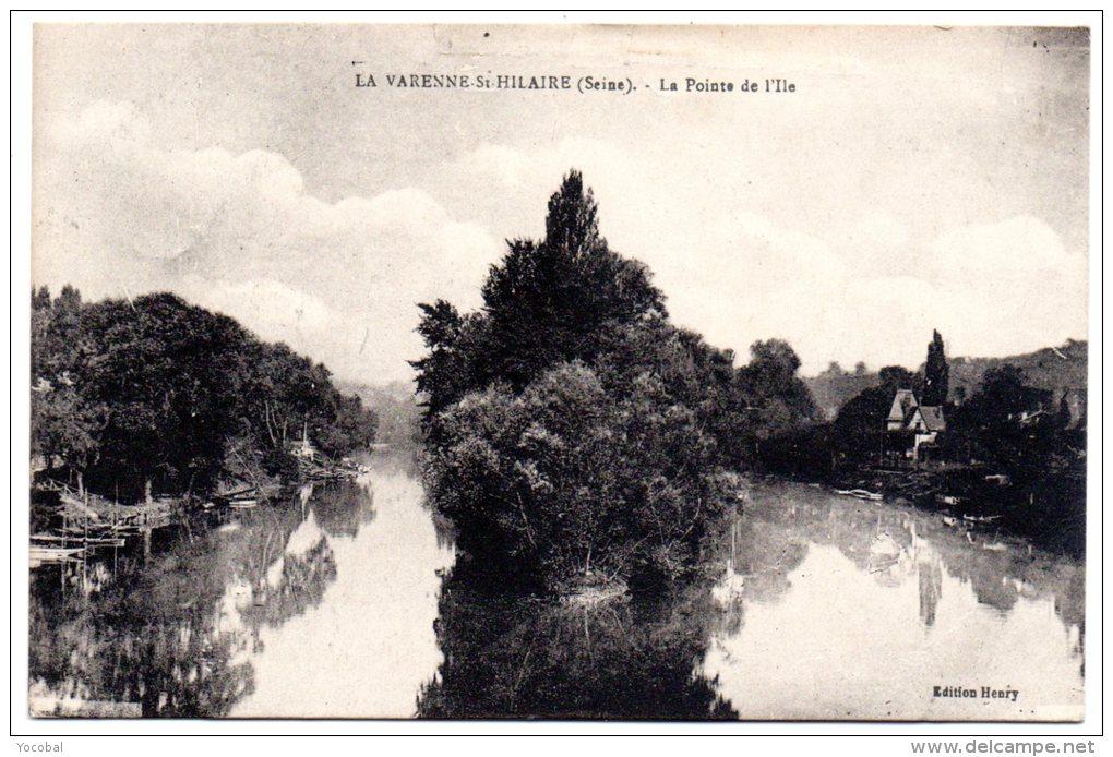 CP, 94,  LA VARENNE SAINT HILAIRE, La Pointe De L´Île , écrite - France