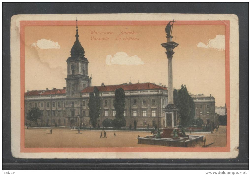 POLAND WARSZAWA WARSAW CASTLE ZYGMUNT COLUMN UNUSED FAIR CONDITION - Poland