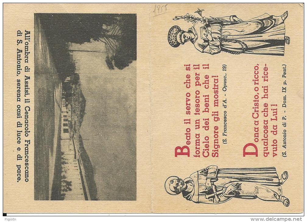 CAL061 - CALENDARIETTO 1955 - OPERA CARITAS FRANCISCANA - Calendriers