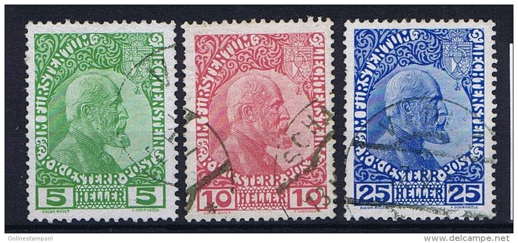 Liechtenstein: 1912: Nr 1 - 3 Used - Liechtenstein