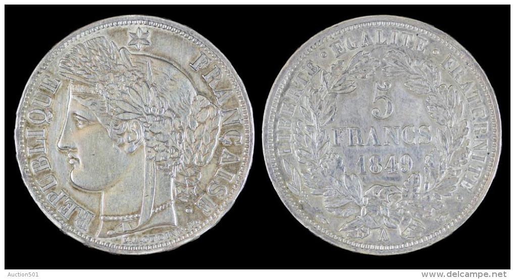 AG00057 République Française, 5 Francs (1849), Argent (26 Gr.) - France