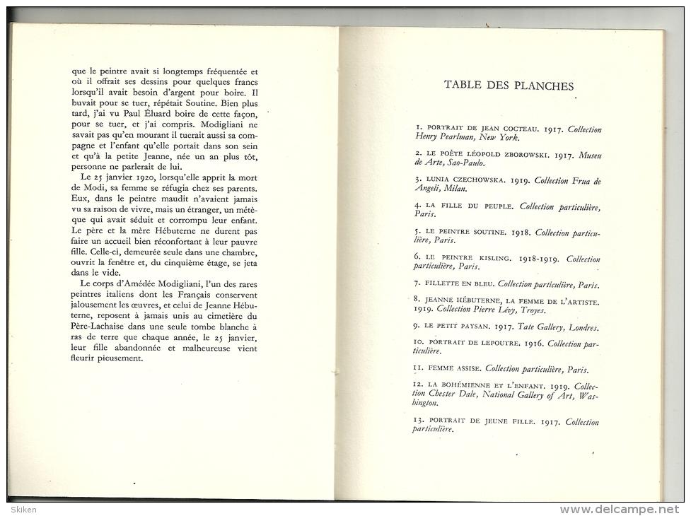 PEINTRE MODIGLIANI Petite Encyclopedie De L'art  N° 10  Portraits ABC 1957 - Encyclopedieën