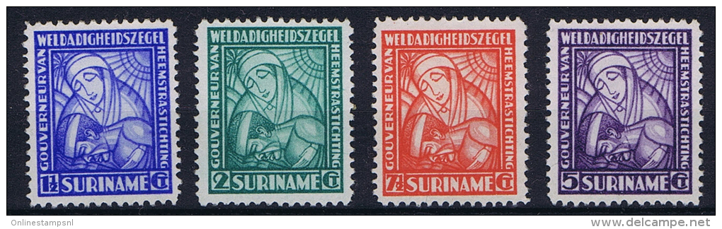 Suriname: NVPH Nr 137 - 140, MH/* 1928 - Suriname ... - 1975