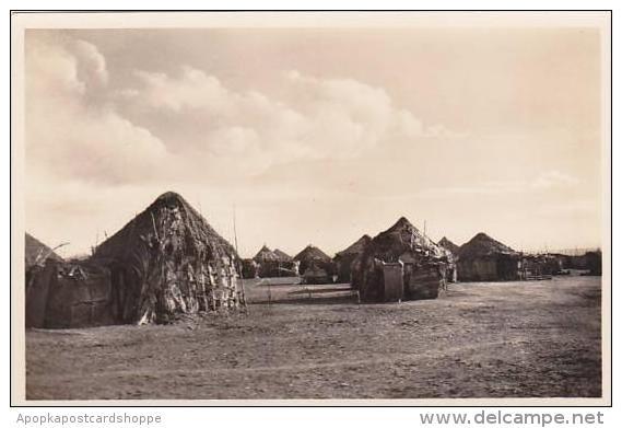 Djibouti Village Indigene Des Cases Photo Postcard - Djibouti
