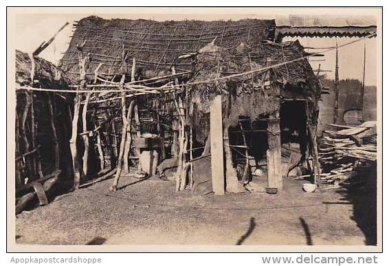 Djibouti Village Indigene Interieur D'une Case Photo Postcard - Djibouti