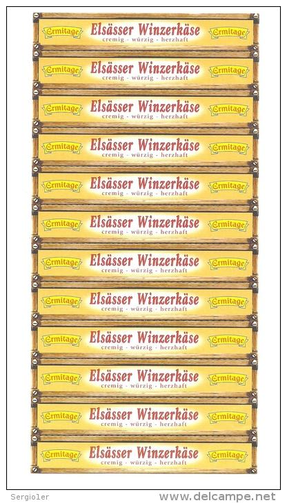 Etiquette Fromage   Ermitage   Elsasser Winzekase Vosges 88   Export - Fromage