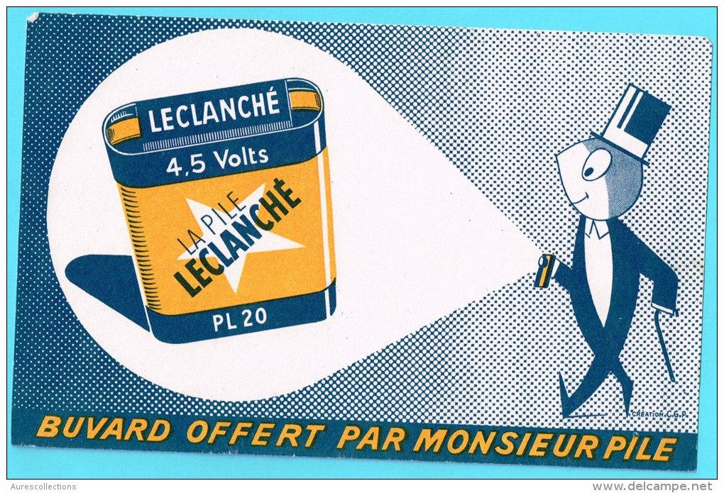 BUVARD BUVARDS Algerie Algeria France Publicité Pub Pile Battery Leclanché - Electricité & Gaz