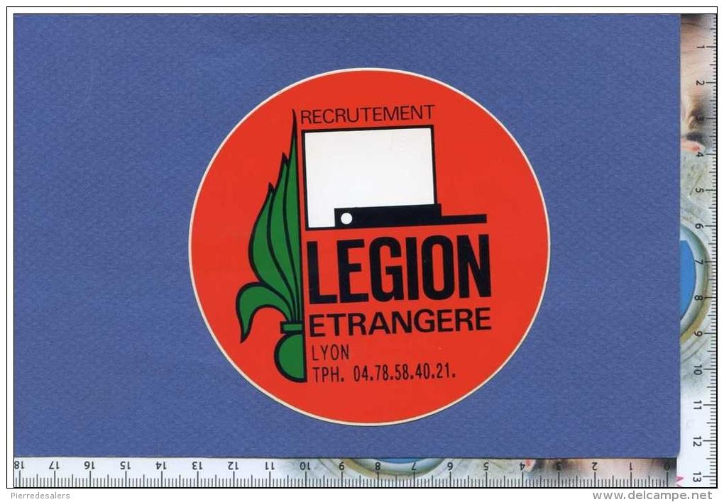 Autocollant - Légion étrangère - Bureau Recrutement De Lyon - Képi Blanc - Armée Militaria - Sticker - Stickers
