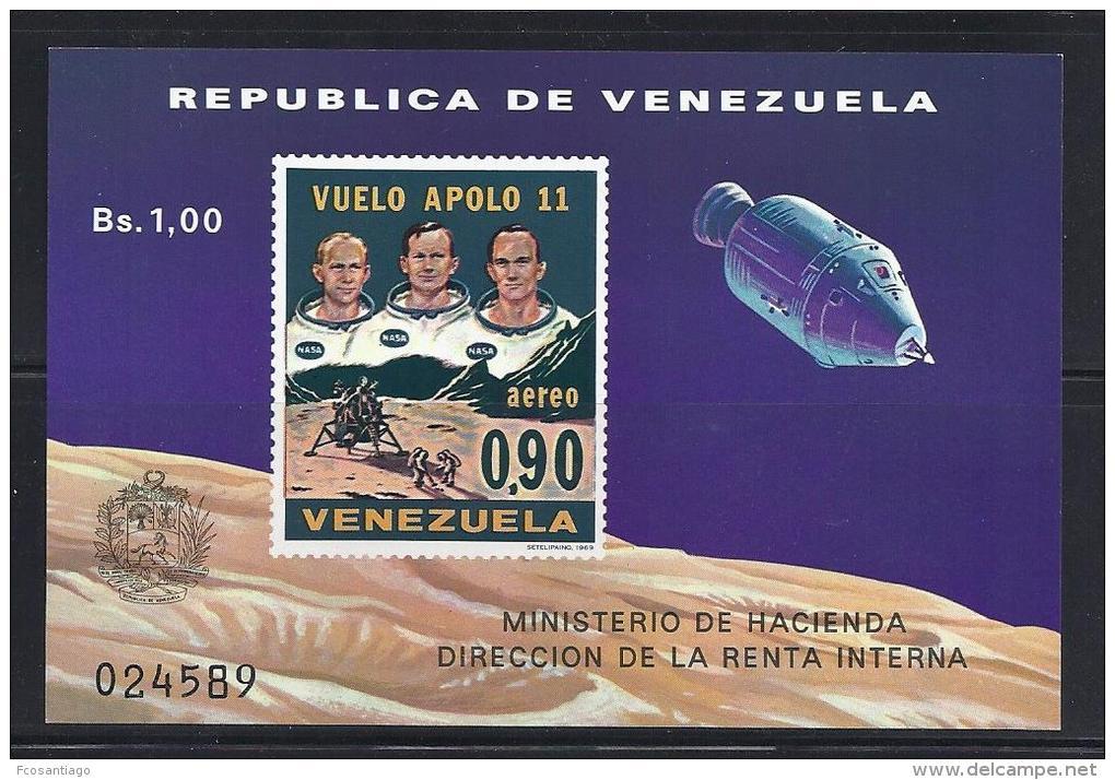 ESPACIO - VENEZUELA 1969 - Yvert #H16 - MNH ** - Ruimtevaart