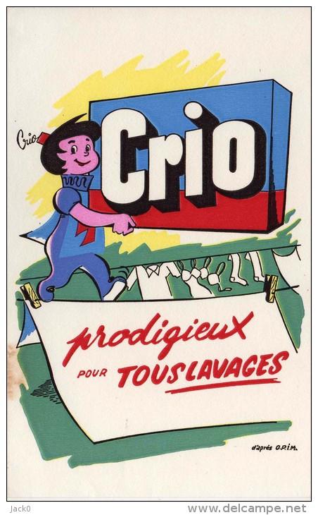 Buvard  C R I O , Prodigieux  Pour  Tous  Lavages  D´ Après  O.P.I.M. - Colecciones & Series