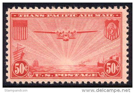 US C22 XF Mint Never Hinged 50c China Clipper Airmail Of 1937 - Air Mail