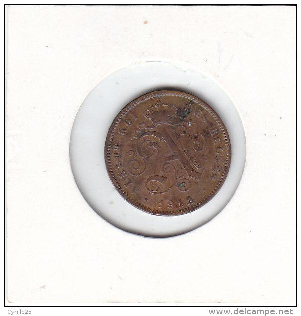 2 CENTIMES Cuivre Albert II 1912 FR - 1909-1934: Albert I