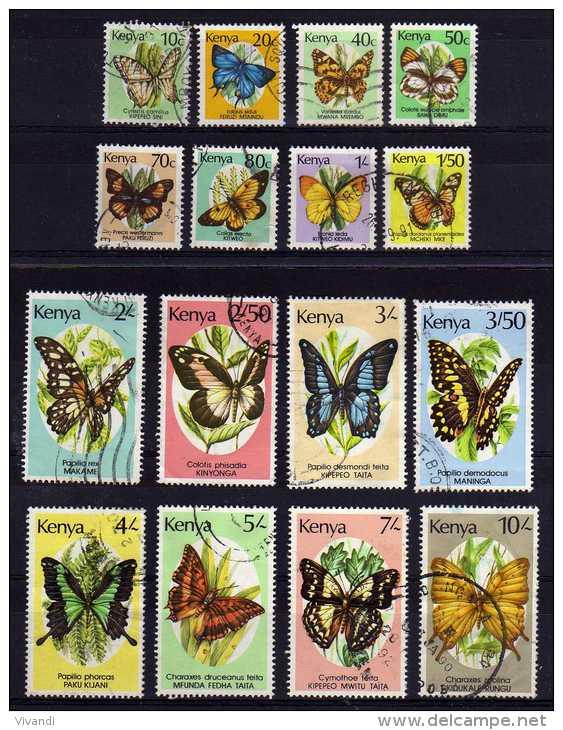 Kenya - 1988/90 - Butterflies (Part Set) - Used - Kenya (1963-...)
