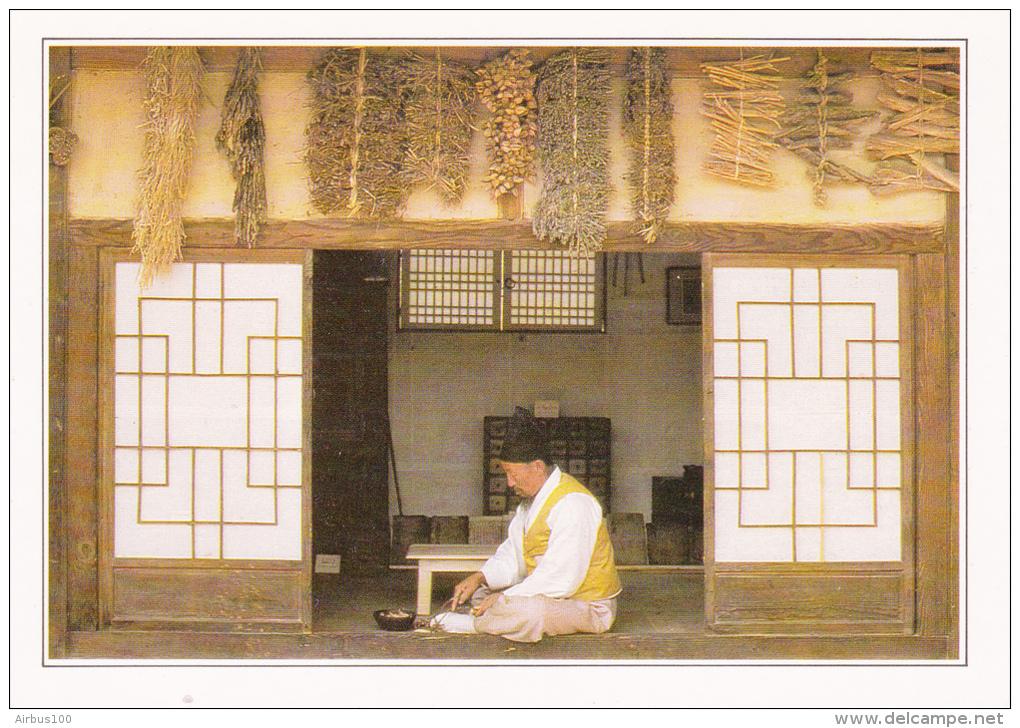 COREE - Séoul - Un Herboriste Coréen - Texte Explicatif Au Verso - Non Circulée - 2 Scans - - Corea Del Sud