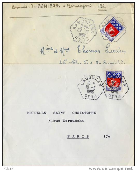 CACHET GERS RAMOUZENS LAUJUZAN - Postmark Collection (Covers)
