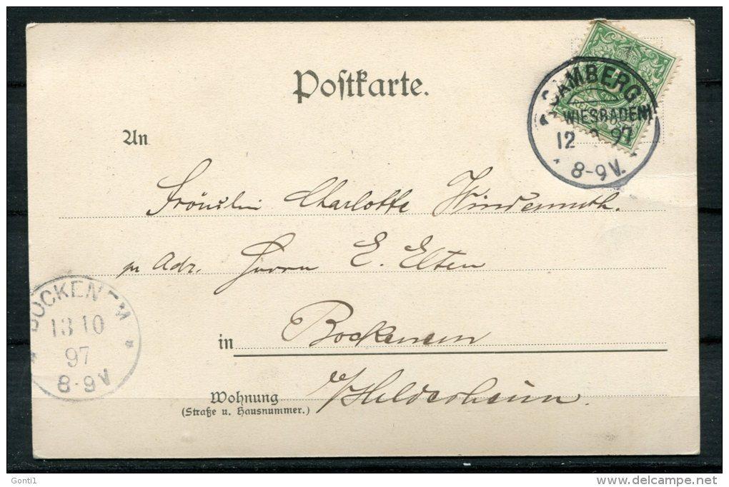 "CPA S/w AK German Empires,DR Limburg A.L. 1897 "" Gruss Aus Limburg-Dom   ""1 AK Used,bef. - Limburg"