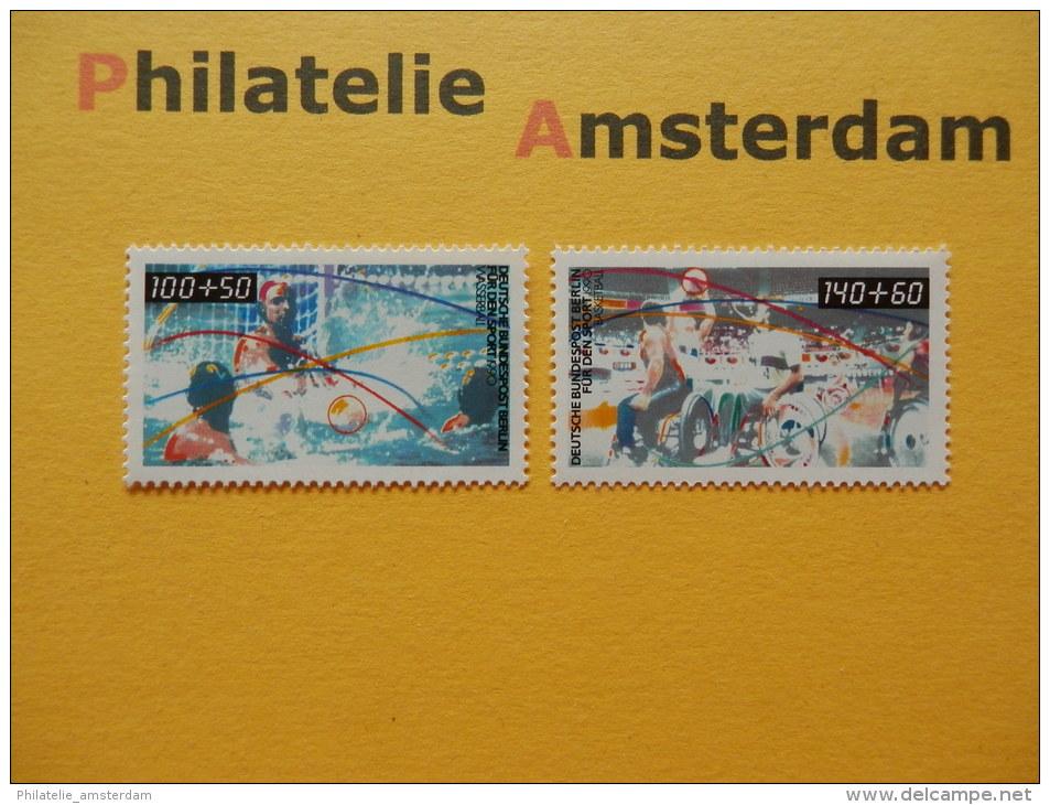 Germany Berlin 1990, SPORTHILFE WASSERBALL WATERPOLO BASKETBALL: Mi 864-65, ** - [5] Berlijn
