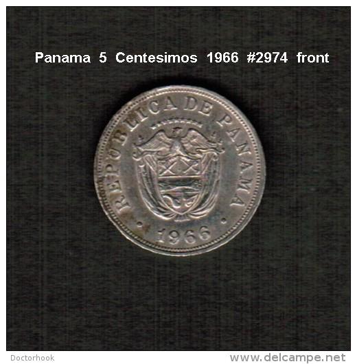 PANAMA     5  CENTESIMOS  1966  (KM # 23.2) - Panama