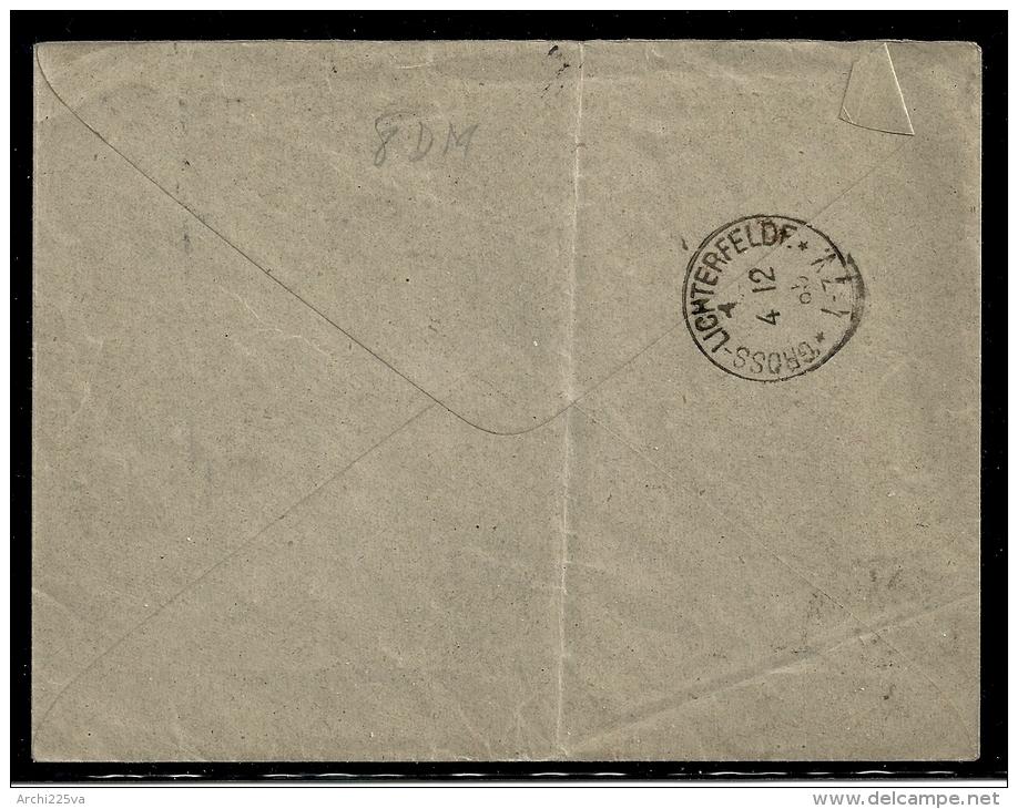 ROMANIA 1885 - N.  56 Su  BUSTA (vuota) - Galati / Berlin - Gross Lichterfelde - Cat. ? € - - Marcophilie