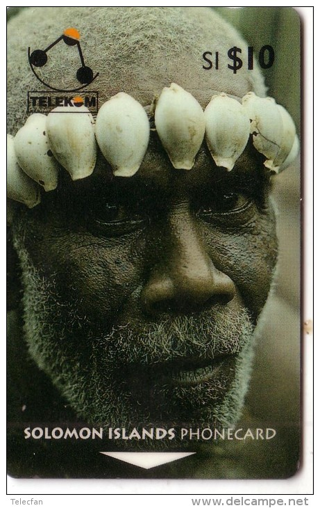 SALOMON SOLOMON MAN OF TURARANA COQUILLAGE SHELL N° 02SIC.....10$ UT - Solomon Islands