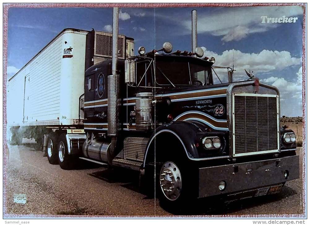 Kleines Musik-Poster  -  Valerie Perrine  -  Rückseite : Trucker  -  Von Pop Rocky Ca. 1982 - Plakate & Poster
