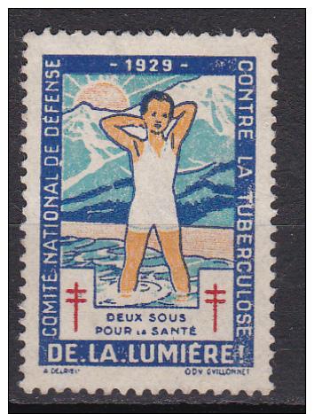 VIGNETTE 1929 NSG DE LA LUMIERE - Antitubercolosi