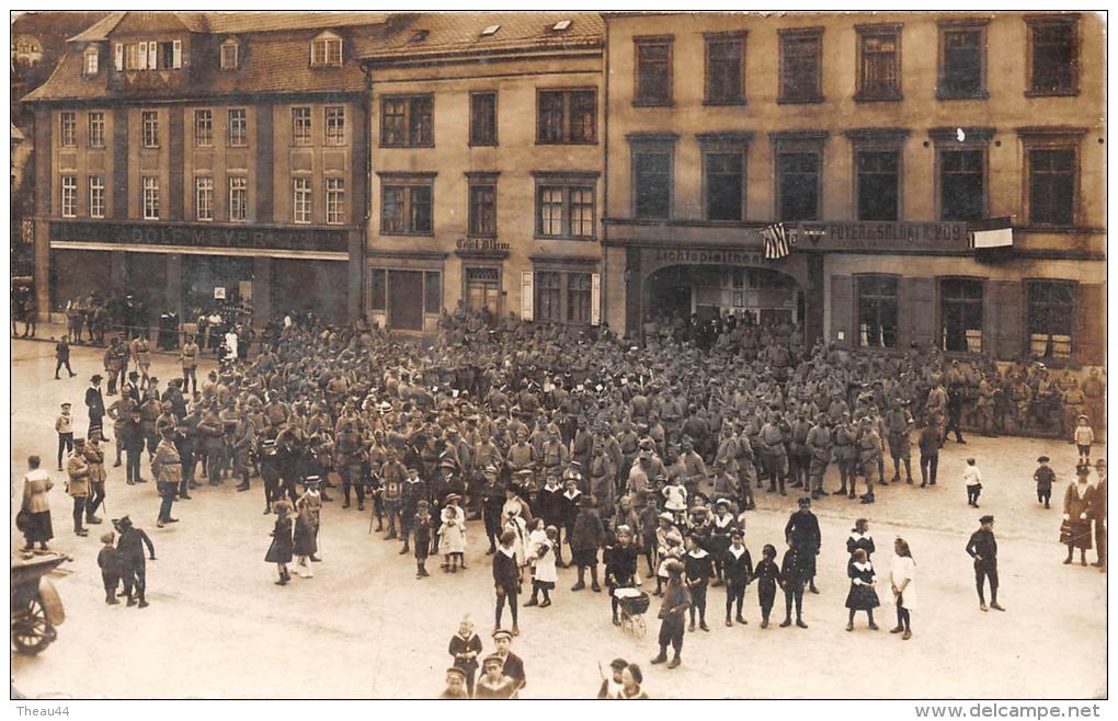 """¤¤  -  Carte Photo   -  DIEZ   -  Militaires Devant Le Foyer Du Soldats N°209  - Commerce D' """" Adolf Meyer """"  -  ¤¤ - Diez"""