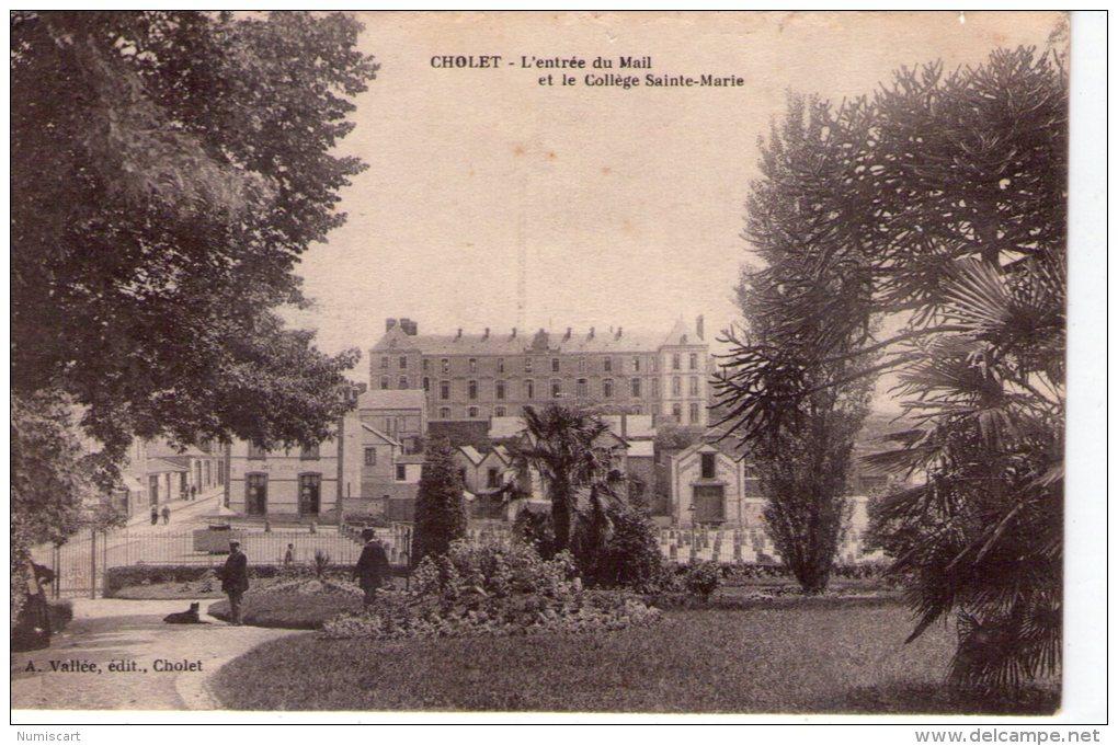 Cholet..animée..le Mail..le Collège Ste-Marie - Cholet
