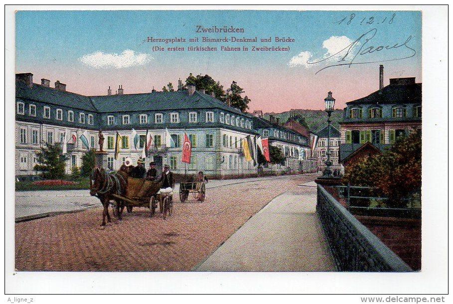 REF 140 : CPA Allemagne Zweibrucken Attelage - Zweibruecken