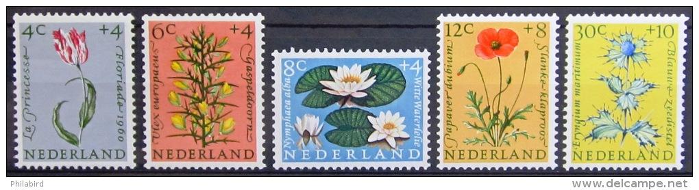 PAYS-BAS                 N°  719/723            NEUF* - 1949-1980 (Juliana)