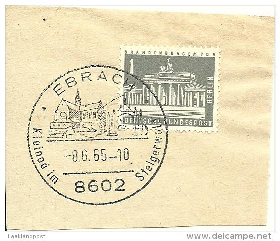 BRD Briefstuck SonderstempelEbrach Kleinod Im Steigerwald 8602   8/6/1965 - [7] West-Duitsland
