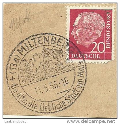 BRD Briefstuck Sonderstempel Miltenberg, Die Alyte, Die Liebliche Stadt Am Main  11/5/1956 - [7] West-Duitsland