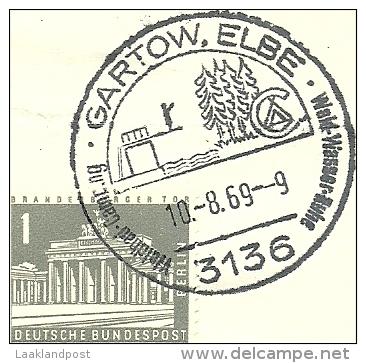 BRD Briefstuck Sonderstempel  Gartow, Elbe 3136 Waldbad Camping Wald Wasser Ruhe  10/8/1969 - [7] West-Duitsland
