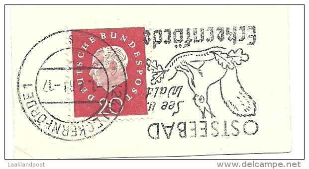 BRD Briefstuck Sonderstempel Eckernforde Ostseebad See Und Wald  1/7/1968 - [7] West-Duitsland