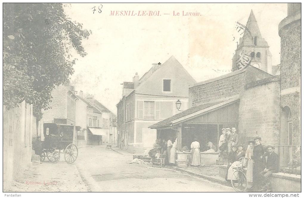 78.  MESNIL-LE-ROI.  LE LAVOIR.    BEAU PLAN.  BELLE ANIMATION. - Frankreich