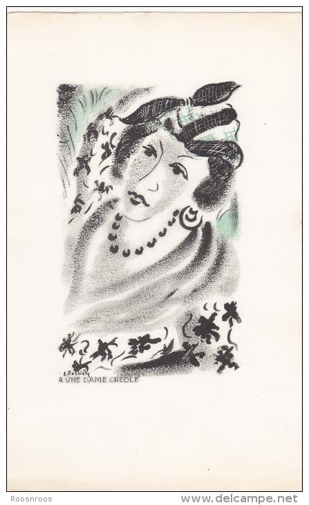 ILLUSTRATION POEMES DE BAUDELAIRE DAME CREOLE - Illustrateurs & Photographes