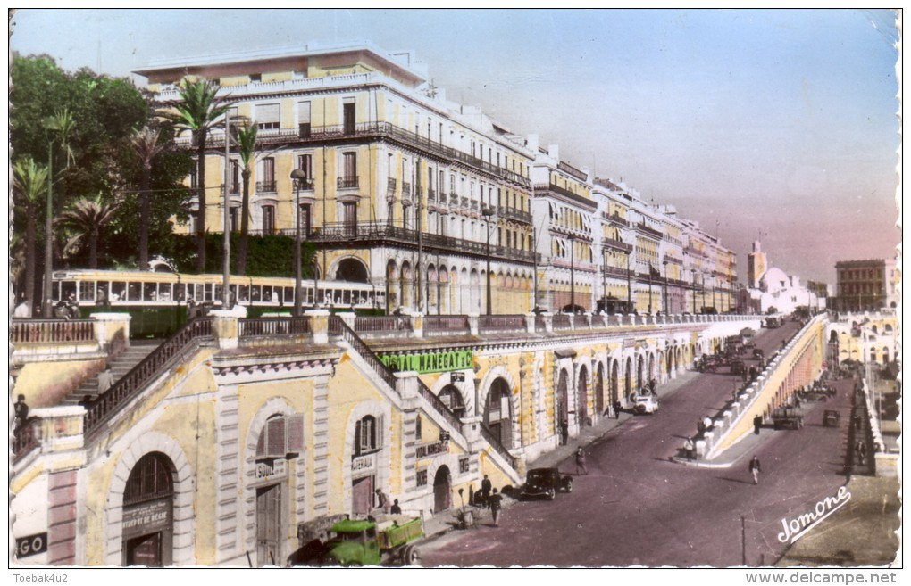 Alger  -  Boulevard De La République Et L'Hotel De L'Oasis - Alger
