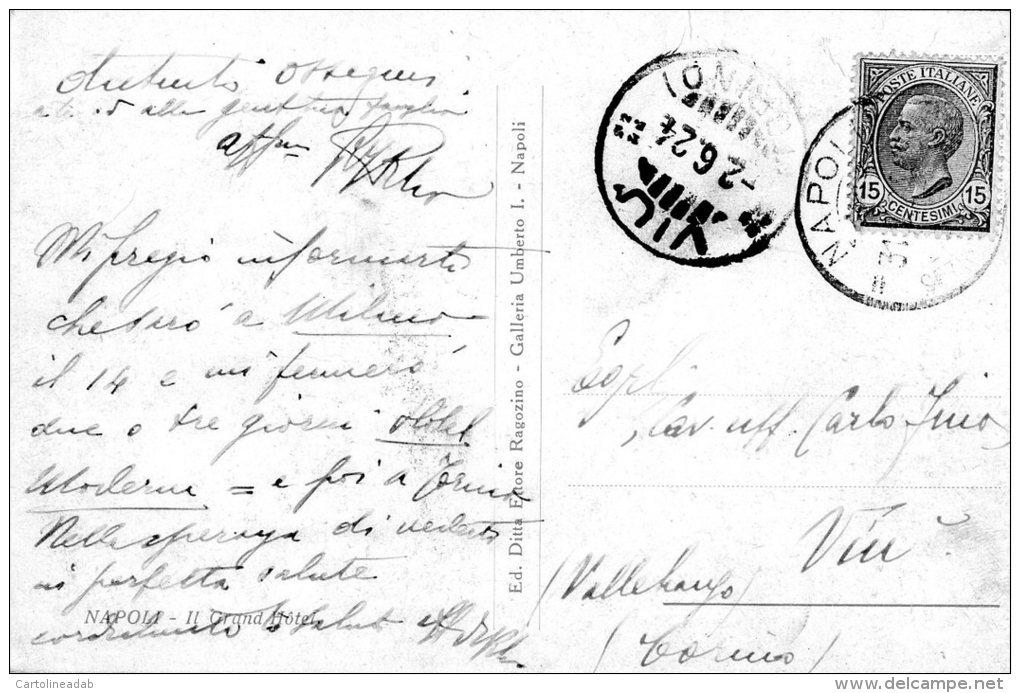 [DC7085] NAPOLI - IL GRAND HOTEL - Viaggiata 1924 - Old Postcard - Napoli (Naples)