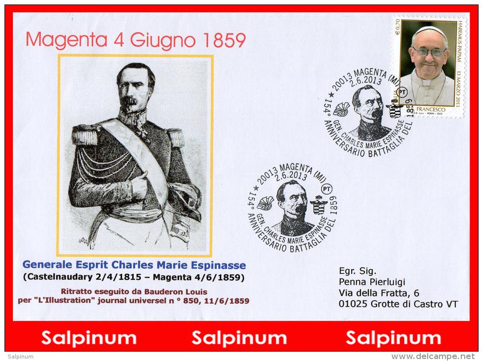 ANNULLO ANNIVERSARIO 154° BATTAGLIA DI MAGENTA - 6. 1946-.. Repubblica