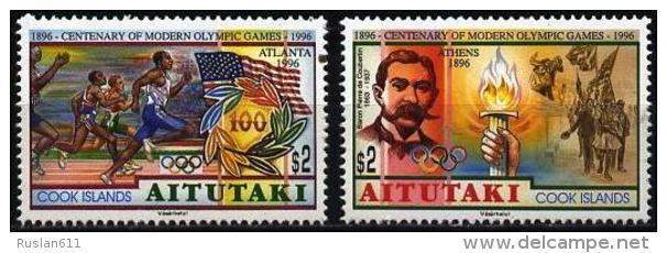 Olympic Games Aitutaki 1996 #759/60 Atlanta MNH ** - Summer 1996: Atlanta