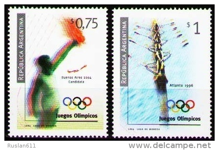 Olympic Games Argentina 1996 #2305/6 Atlanta MNH ** - Summer 1996: Atlanta